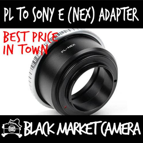 Arri PL Cine Lens to Sony E (NEX) Body Adapter
