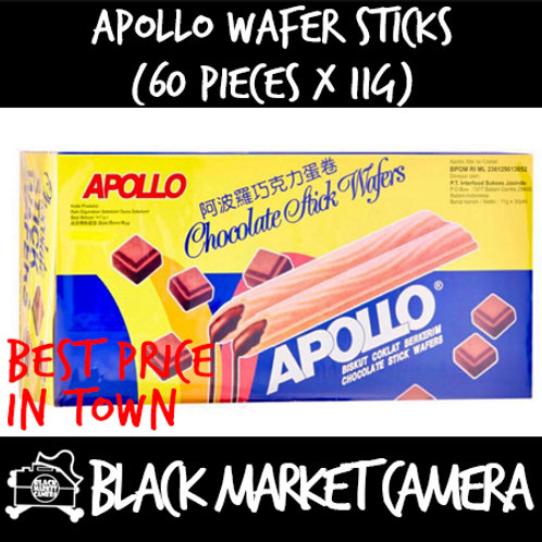 Apollo Wafer Sticks (Bulk Quantity, 60 Pieces x 11g)