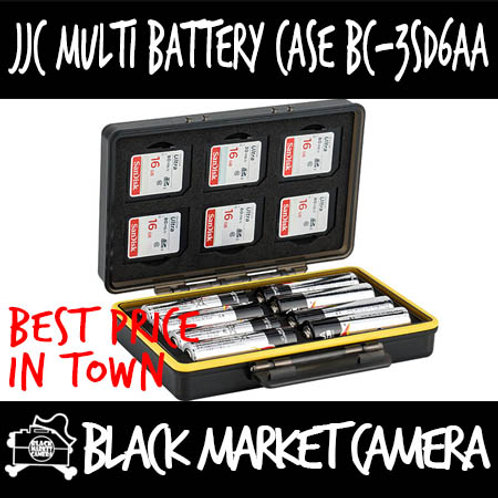 JJC BC-3SD6AA Multi-Function Battery Case (6x SD)