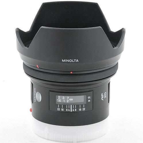 Minolta MA AF 20mm F2.8 New *Late Version (used)