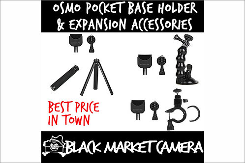 OSMO Pocket Base Holder / Bicycle Clamp / Tripod / Ext Rod / Suction Cup