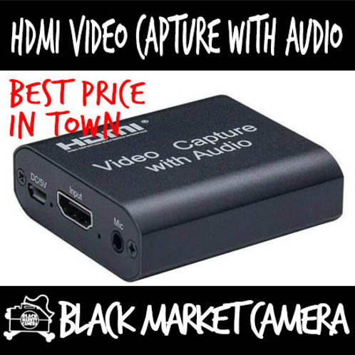 HDMI Video Capture with Audio Mic Input Stereo Audio Output