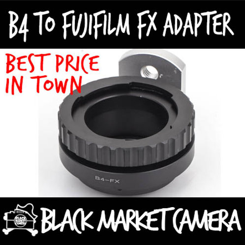 "B4 2/3"" ENG Cine Lens to Fuji FX Mount Body Adapter"