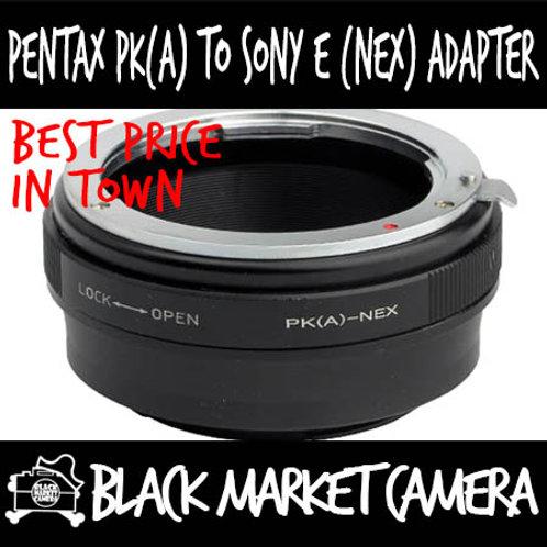 Pentax PK(A) Lens to Sony E (NEX) Body Adapter