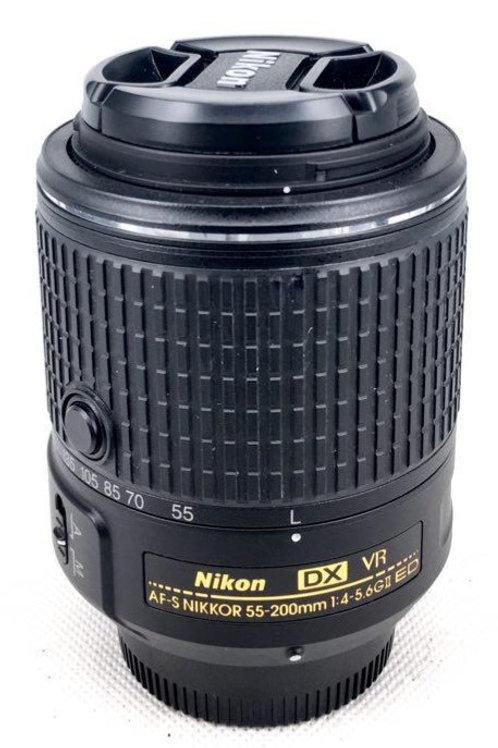 Nikon AFS 55-200mm F4-5.6 DX VR II (used)