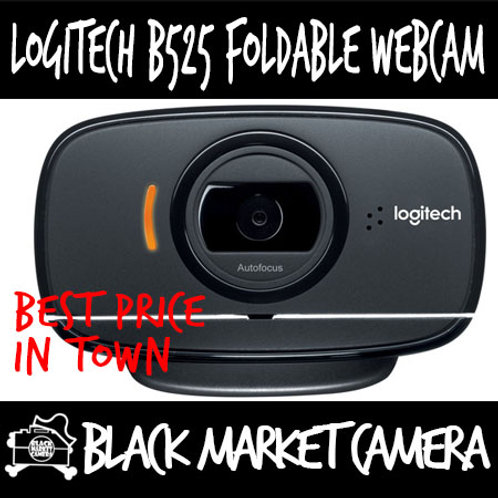 Logitech B525 Foldable Business USB Webcam for Streaming / Video Conferencing