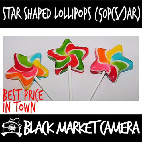 Star Shaped Lollipops (Bulk Quantity, 50pcs/Jar)