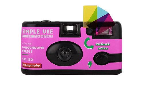 Lomography Simple Use LomoChrome Purple 400 Film Camera (Reloadable)