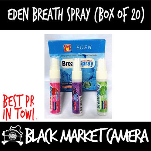 Eden Fruity Candy Breath Spray (Bulk Quantity, 3 boxes for $45)