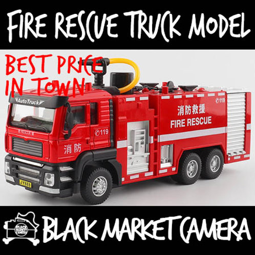 JY 1:45 Fire Rescue Truck Red Diecast Model