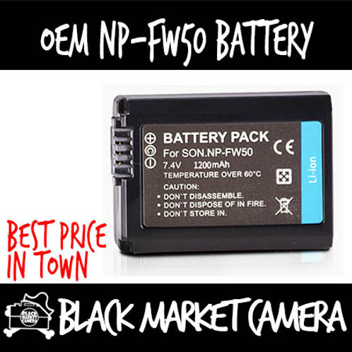 OEM NP-FW50 Lithium-Ion Rechargeable Battery