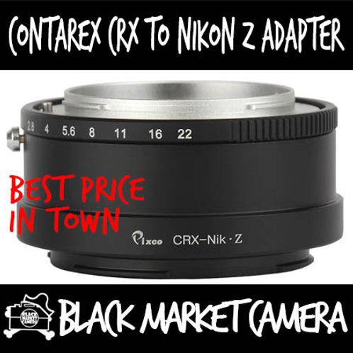 Contarex CRX Lens to Nikon Z Mount Camera