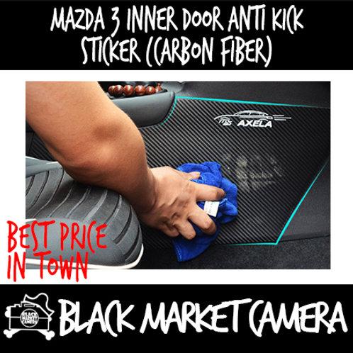 Mazda 3 Inner Door Anti Kick sticker (Carbon Fiber)
