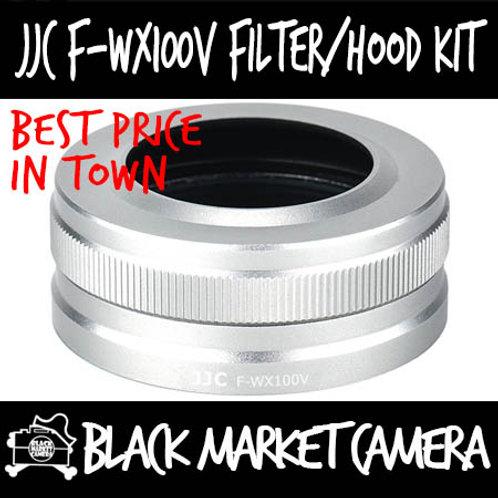 JJC F-WX100V Filter & Lens Hood Kit Silver