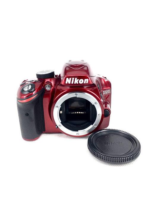 Nikon D3200 (24MP) Red DSLR Body