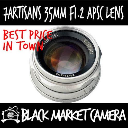 7Artisans 35mm F1.2 Silver APSC Canon EOS M Mount