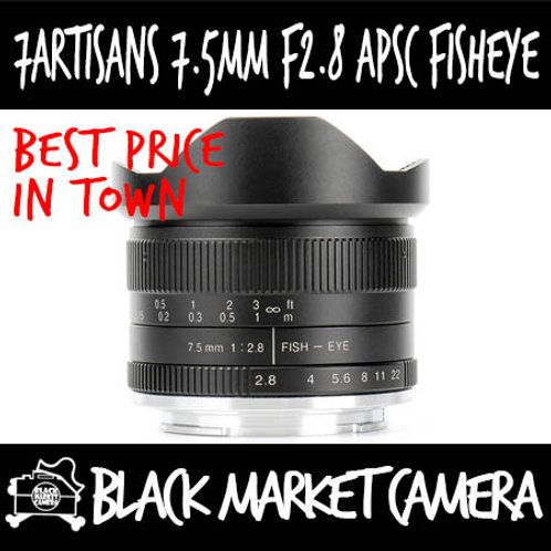 7Artisans 7.5mm F2.8 APSC Fisheye Micro 4/3 Mount