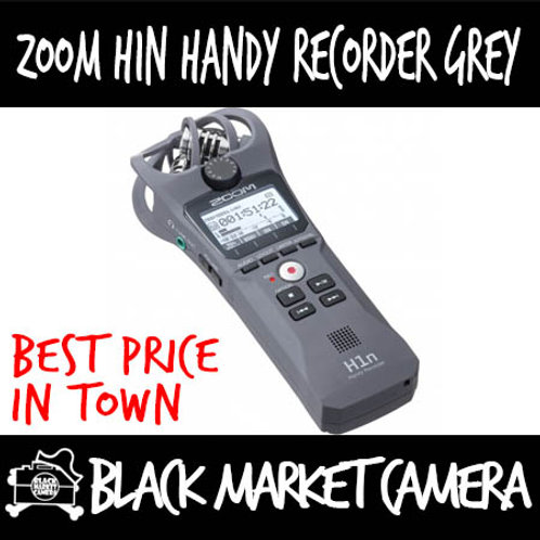 ZOOM H1n Grey 2-Input/ 2-Track Portable Handy Recorder