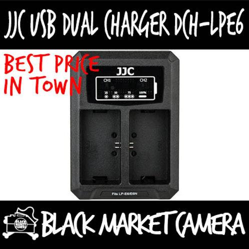 JJC DCH-LPE6 USB Charger for Canon LP-E6/LP-E6N