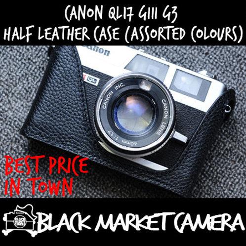 Funper Canon QL17 Giii G3 Half Leather Case