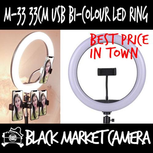 M33 33cm USB Bi-color LED Ring Light