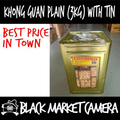 Khong Guan Plain Biscuit Crackers (3kg) with Metal Tin BULK