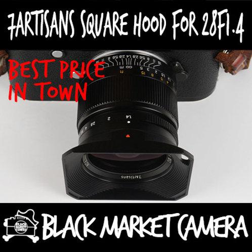 7artisans Photoelectric Square Hood w/ Cap for 28mm F1.4 M Mount
