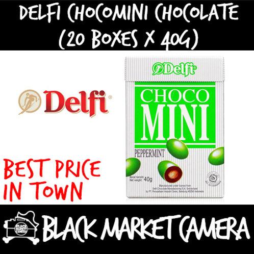Delfi Choco-Mini Chocolate (Bulk Quantity, 20 Boxes x 40g)