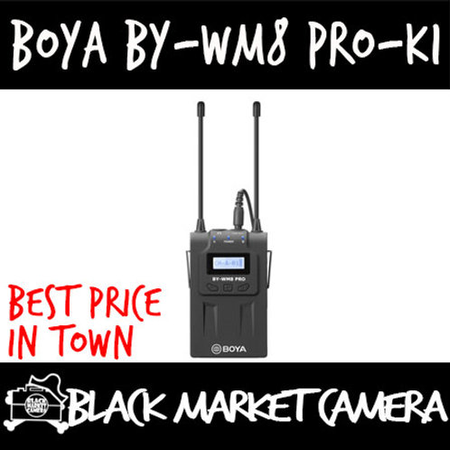BY-WM8 Pro-K1 UHF Dual-Channel Wireless Microphone System