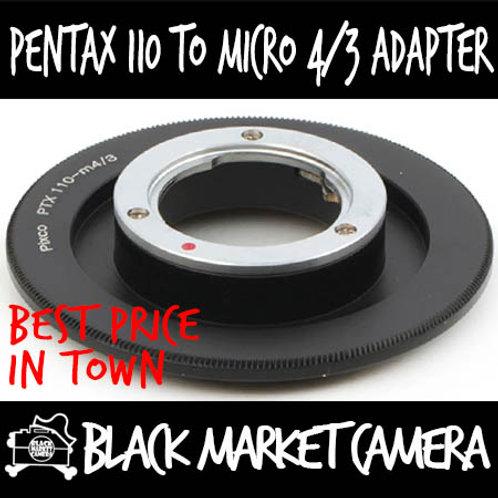 Pentax PK110 Lens to Micro 4/3 Body Adapter