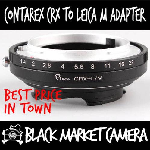Contarex CRX Lens to Leica M Body Adapter