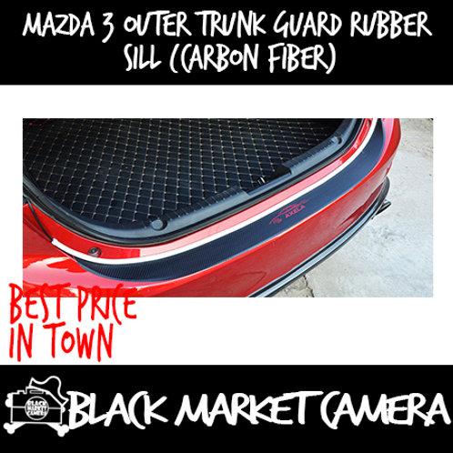 Mazda 3 Outer Trunk Guard Rubber Sill (Carbon Fiber)