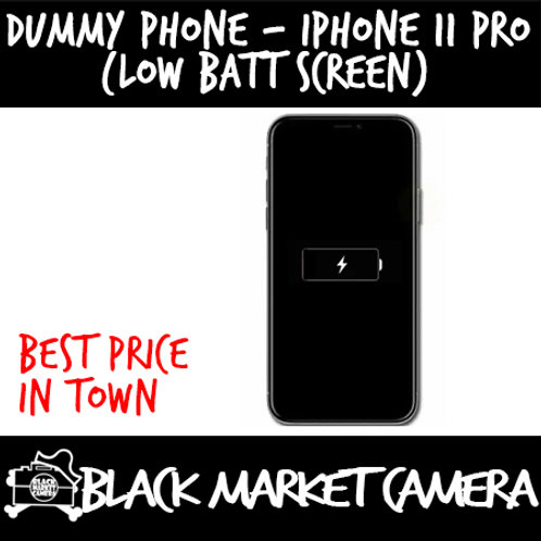 Dummy Phone iPhone 11 Pro with Low Batt Screen