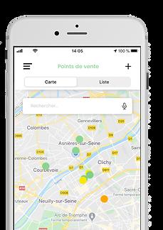 Géolocalisation application La Mano Verde - AMAP et consommation locale