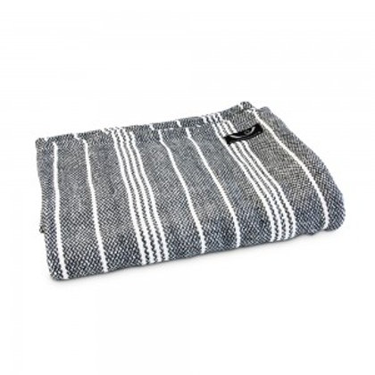 Yoga Blanket with Grey Stripe - Organic Cotton