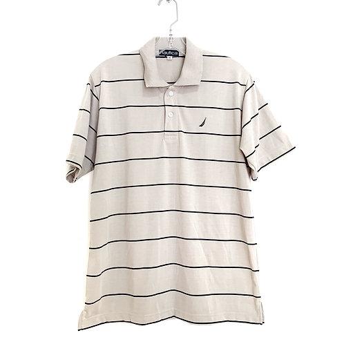 Nautica Stripe Polo Shirt Size M