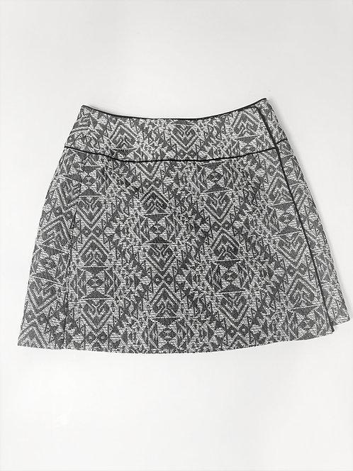 Lined Grey/White Greek Patterns Skirt