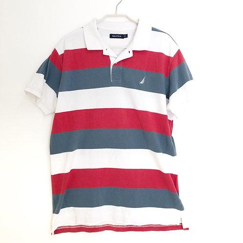 Nautica Polo Shirt with Stripe  Size XL