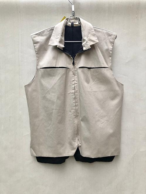 Vest Color Beige with Black Lining