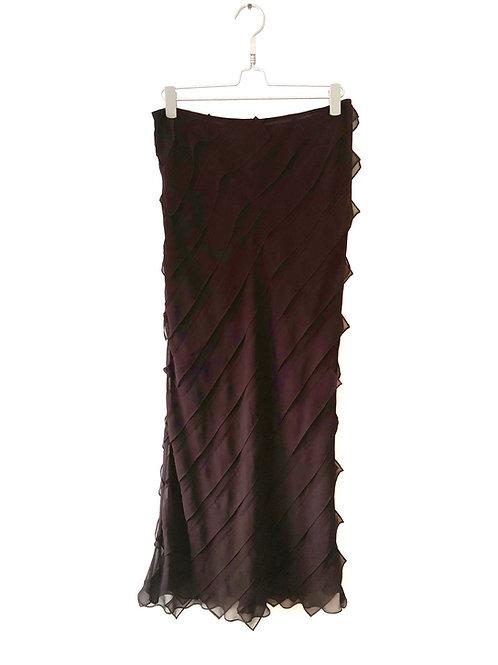 Strapless Dress Dark Burgundy Size M