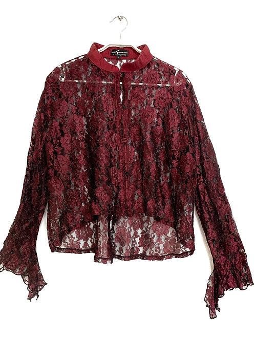 Dorin Frankfurt Lace Shirt Size 2