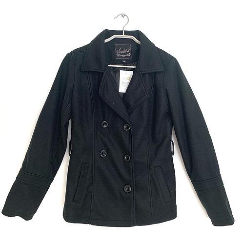Black Double Breasted Black Jacket Size M