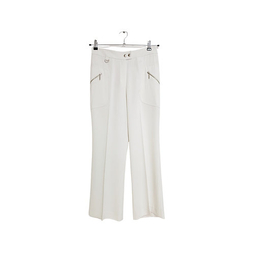 Twin -Set White Trousers with Front Pockets Size 38