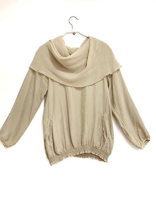 Sack's Silk Gypsy Style Shirt Size S/M