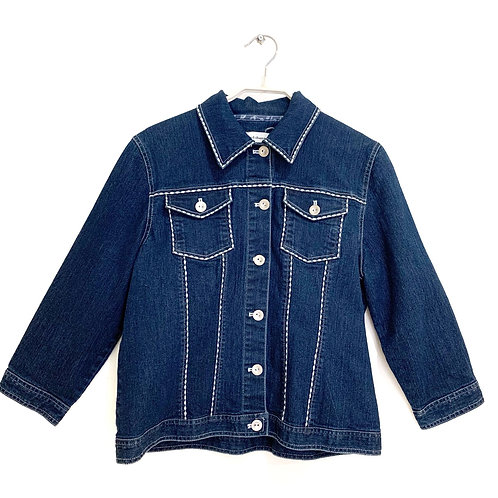 Alfred Dunner Jeans Jacket Petite Size M