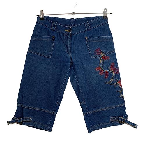 Efi Schteiner Bermuda Shorts with Embroider Size 38