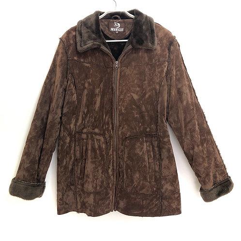 Margie Suede & Fur Look Jacket Size L