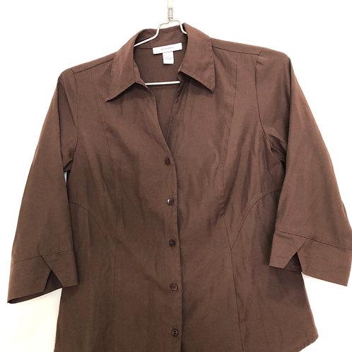 Woman's brown  3/4 long sleeve