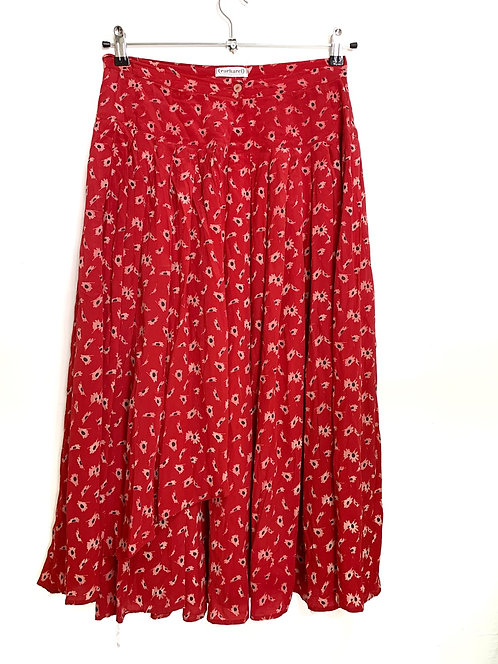 Cacharel Pleated Floral Pleated Skirt Size 38