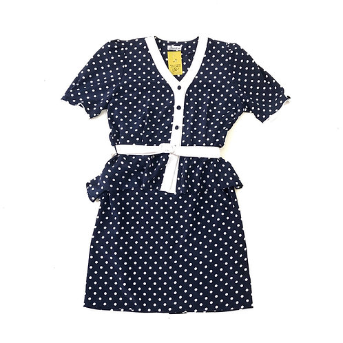 Reinette  Polka Dots Set Top and Skirt Size L/XL